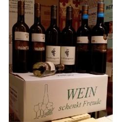 """Wein schenkt Freude Karton """"Franken trocken"""""""