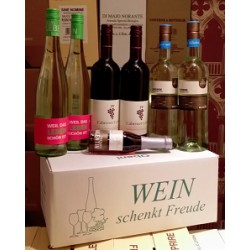 """Wein schenkt Freude Karton """"Franken fruchtig"""""""